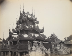 Portion of a priest's abode, or Phoongye House (Bur. 'Keoung') at Rangoon